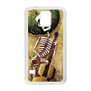 [Cool Skeleton] Skeleton Gitar Case For Samsung Galaxy S5 {White}