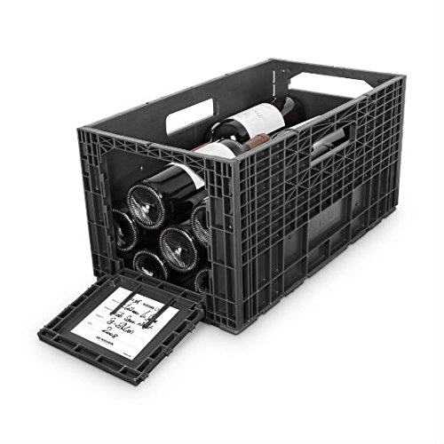 Flexible Wine Storage System for Wine Collectors | Front and Rear Access Door | Stackable Storage Solution | Weinbox 9 Separate Storage Crates | Hold Up To 108 Bottles | Works with All Bottle Shapes (Access Door Front)
