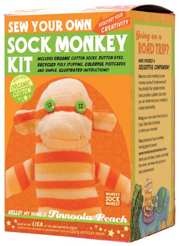 Sock Monkey Kit, Orange , Made in the