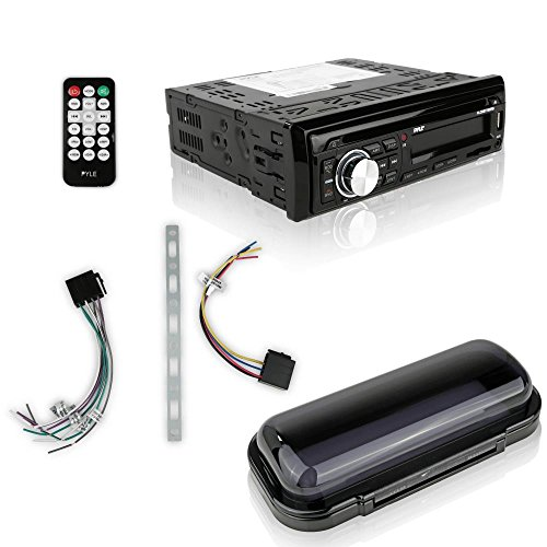 Pyle Bluetooth Marine Stereo Receiver & Waterproof Speaker Kit, Hands-Free Talking, CD Player, AM/FM Radio, MP3/USB/SD/AUX, (2) 6.5'' Speakers (PLCDBT75MRB)