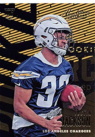 2018 Absolute Football  129 Justin Jackson Rookie RC Rookie Los Angeles  Chargers Official NFL Trading b93297226