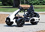 First Drive Electric Go Kart 12V White - Electric Power Ride On Car