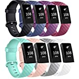 AK Bands Compatible with Fitbit Charge 3 Bands, Sports Replacement Wristbands for Fitbit Charge 3/Fitbit Charge 3 Special Edition Women Men, Small Large