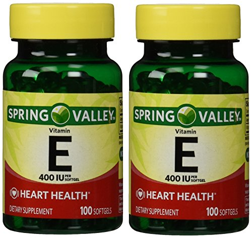 Aces 200 Softgels (Spring Valley Vitamin E 400 IU, 100 Softgels (Pack of 2))