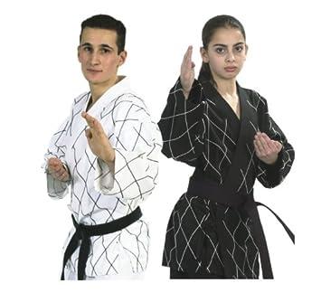 25db0700ee40 Tenue d hapkido - arts martiaux - blanc noir - Taille 7 200CM ...