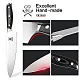 Allezola Professional Chef's Knife, 7.5 Inch German High Carbon Stainless Steel, Razor Sharp, Multipurpose Kitchen Knives for Home and Restaurant, Best Choice for Christmas Day