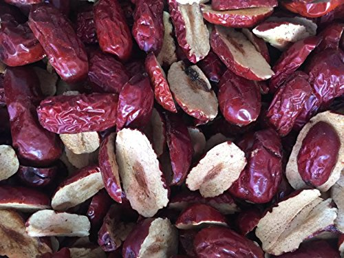Dried fruit jujube cut slices high grade Chinese red dates Hong Zao 1500 grams from Shanxi by JOHNLEEMUSHROOM