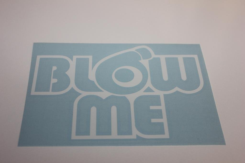 JDM Car Decal Customize Right BLOW ME
