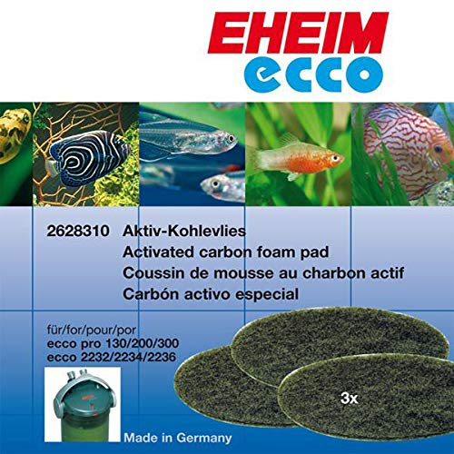 - Eheim Carbon Filter Pad for ECCO Canister Filters 3/pk