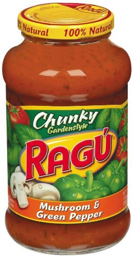 Ragu Organic Sauce - Ragu Chunky Pasta Sauce 24oz Jar (Pack of 4) (Choose Flavor Below) (Mushroom & Green Pepper)