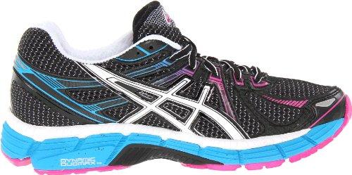 Zapato De Running Asics Gt-2000 Para Mujer Negro / Blanco / Azul Eléctrico