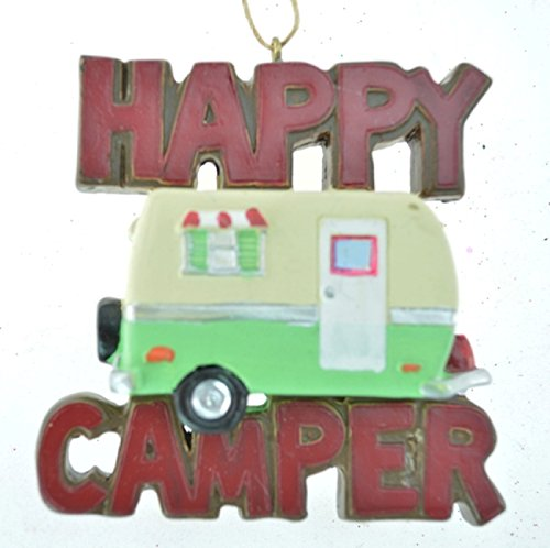 Happy Camper Trailer made our list of the most unique camping Christmas tree ornaments to decorate your RV trailer Christmas tree with whimsical camping themed Christmas ornaments!