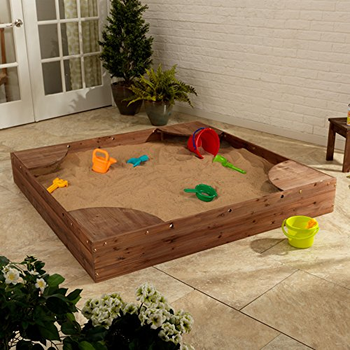 KidKraft Backyard Sandbox (Espresso) ()