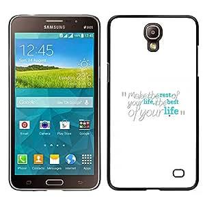 TopCaseStore / la caja del caucho duro de la cubierta de protección de la piel - Make The Best Of Your Life - Samsung Galaxy Mega 2