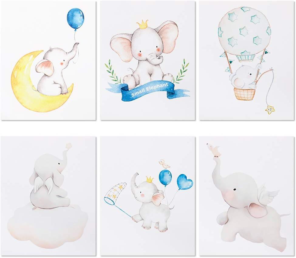 fidget pencil 6 Pcs Nursery Decor, Elephant Dream Wall Art Prints, Baby Wall Decor, Animal Poster, Unframed
