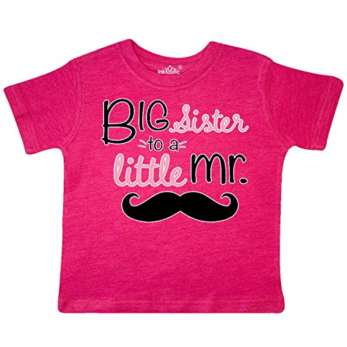 inktastic - Big Sister to a Little Toddler T-Shirt 2T Retro Heather Pink 276b4