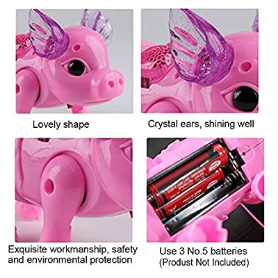 Cute Pink Pig Walking Singing Musical Toy, Toddler Electric Music Sound Toy with Rope Interactive Preschool Kids Baby Birthday Christmas Gift: Industrial & Scientific