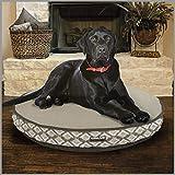 Kirkland Signature ~ Machine Washable Luxury Pet Napper Dog Bed, 42' Round, Dark Brown Waterfall & Faux Suede