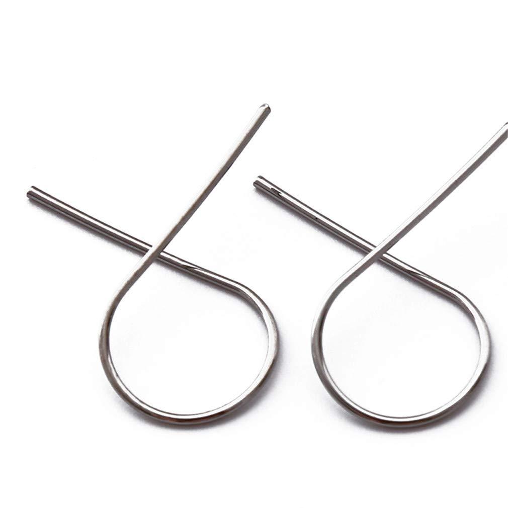 DONGMING Minimalist Geometric Stud Earrings for Women Girls Simple Ear Studs Fashion Jewelry Gift,Silver