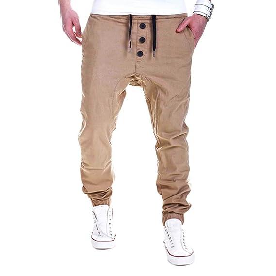 Pantalones Casuales para Hombre Pantalón Deportivo Jogger Hip Hop Estilo  Urbano Chándal de Hombres con Cinturón Elástico Regular-Fit  Amazon.es   Ropa y ... ab38d9f92d6