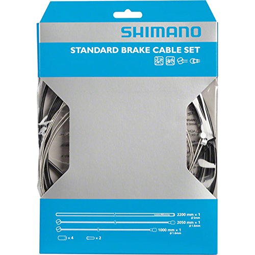 SHIMANO Universal Standard Brake Cable Set, For MTB or Road (Road Bike Bicycle Brake)