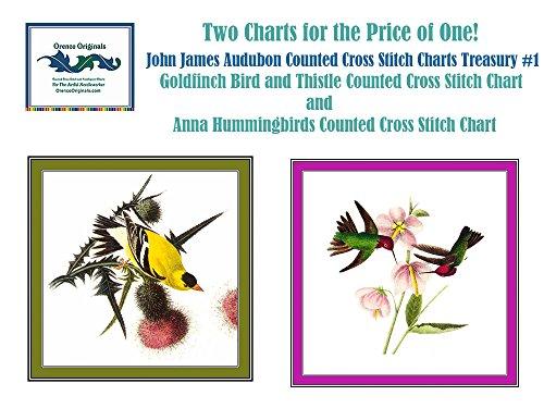 Orenco Originals John James Audubon Treasury #1 Counted Cross Stitch Charts Bonus ()