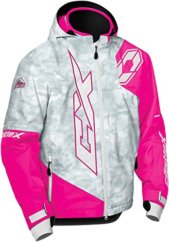 Castle X Stance Youth Snowmobile Jacket - Alpha Gray/Pink Glo (LRG)