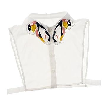 MagiDeal Cuello con Solapa Falsa Cómodo Mariposa Gasa Encaje Falso Formal Blusa Camisas Imitación Accesorio - Blanco, Único: Amazon.es: Juguetes y juegos