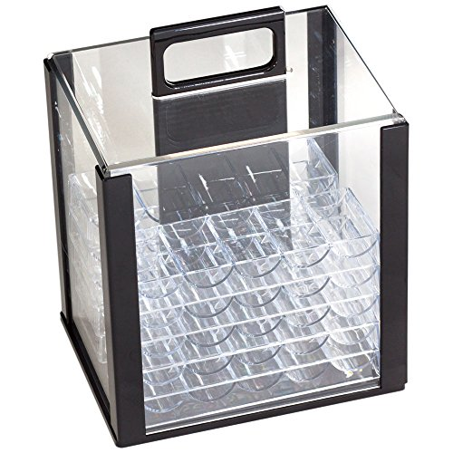- GSE Games & Sports Expert 1000PC Acrylic Chip Case/1000 Count Chip Carrier with 10 Chip Trays (Chip Case + 10 Trays)