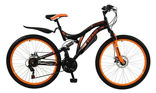 BOSS Men's Ice Bike, Black/Orange, Size 26