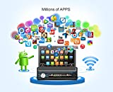 Quad-Core 2G 32G Single Din 7'' Android 6.0 Touchscreen, Bluetooth,MP3/USB/SD AM/FM Car Stereo 7'' Digital LCD Monitor, Detachable Front Panel, Wireless Remote,Multi-Color Illumination Non CD/DVD Player