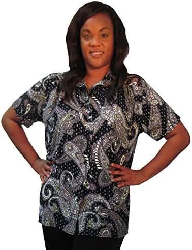 A Personal Touch Black Bombay Women's Plus Size Blouse
