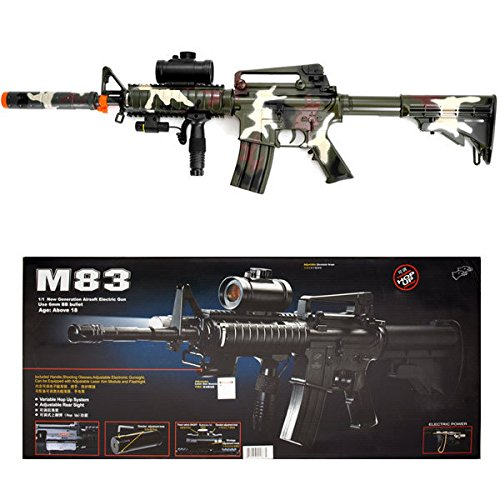 (Camo M4 M16 Airsoft Electric Assault Rifle AEG Semi-Full Auto M83)