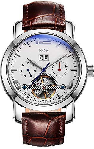North King Mechanical Watches Date Display Four Dials Blue Mirror Mechanical Wrist Watch Multi Function Large Dial ()