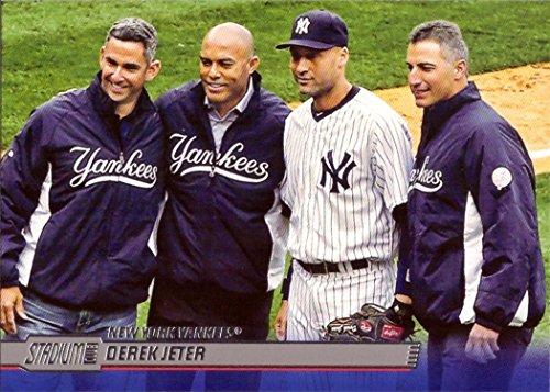 2014 Topps Stadium Club #18 Derek Jeter Baseball Card Featuring the Yankees Core Four - Jorge Posada, Mariano Rivera, and Andy Pettitte