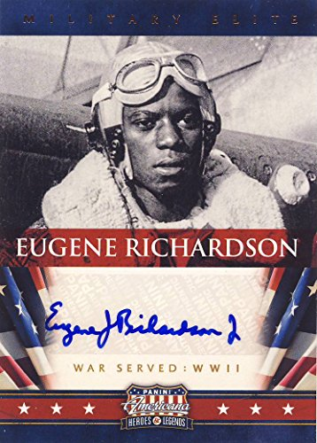 2012 Paninni Americana Heroes & Legends Trading Card Autograph Military Elite Tuskegee Airmen Eugene Richardson
