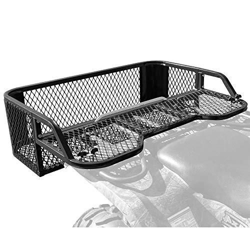 Black Rear Mesh Drop-Down ATV Rack ()