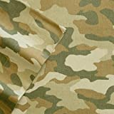 Cuddl Duds Twin Size Heavyweight 3-Piece Flannel Sheet Set, Camo