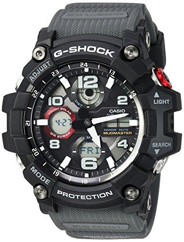 Casio Men's 'G-Shock' Quartz Resin Casual Watch, Color:Black (Model: GWG-100-1A8CR)