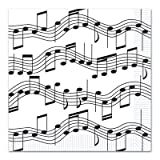 (32) MUSIC NOTE Paper LUNCHEON 2 Ply Napkins 6.5'' Square - MUSICAL Recital EVENTS PARTY Table Decor DECORATIONS