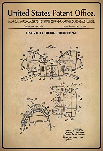 Cartel de Chapa 30 x 20 cm U.S. Patent Office - Design for a ...