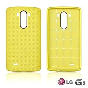 LJF phone case OnlineBestDigital - Colorful Hard Back Case for LG G3 - Yellow