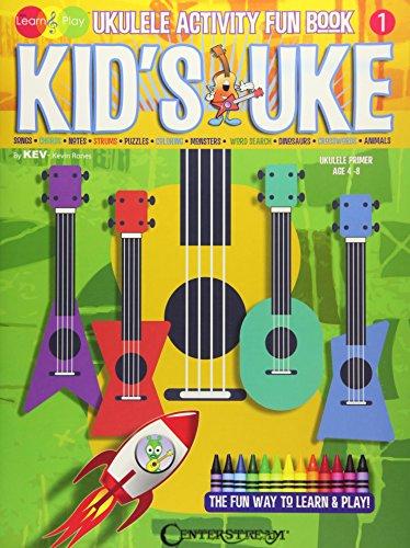 Kid's Uke - Ukulele Activity Fun Book: Kev's Learn & Play Series