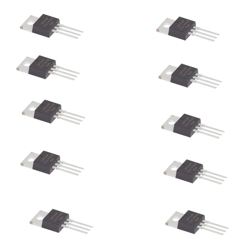 10 Unidades del Transistor IRFZ44N Canal N Internacional Rectificador Power Mosfet