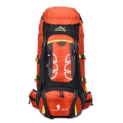 "Fulltime (TM)–�?5L al aire libre mochila senderismo bolsas Camping juego impermeable de viaje montañismo, hombre mujer Infantil, negro, (23.6 x 12.99 x 7.9)"" / (60 x 33 x 20)cm naranja"