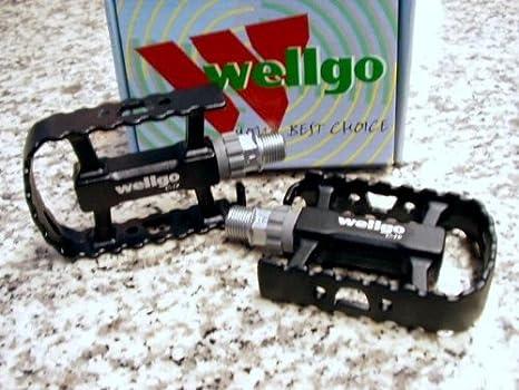Pedales de MTB 285 g color negro de una pieza Wellgo