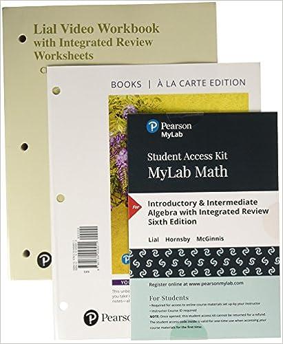 Introductory & Intermediate Algebra, Loose-Leaf Version with