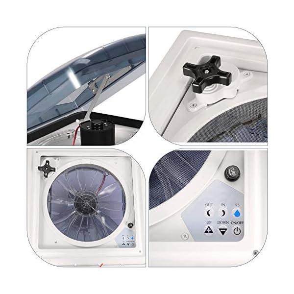 InLoveArts Belüftung für Wohnmobil, 12V Kühler Abluftventilator, Turbo Vent Kurbeldachhaube Polar Control mit Thermostat…