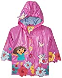 Kidorable Dora the Explorer Purple All-Weather Raincoat for Girls w/Boots, Flowers, Butterflies