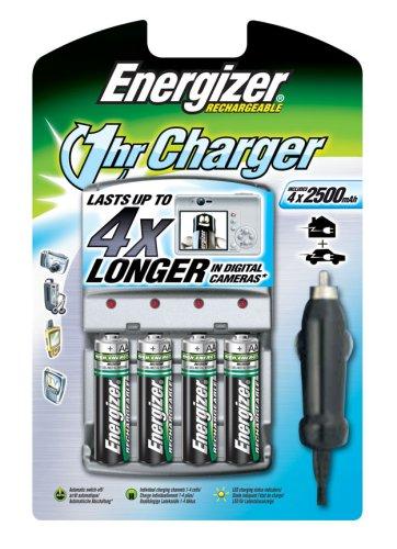Energizer - Cargador rápido 1hr Charger para casa y Coche ...